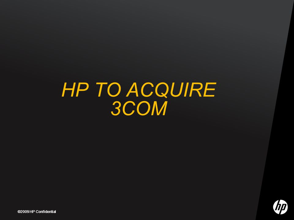 HP TO ACQUIRE 3COM