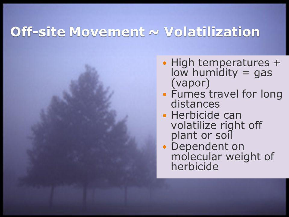 Herbicide Movement in Soil Herbicide Characteristics ◦Persistence = resistance to breakdown in soil.