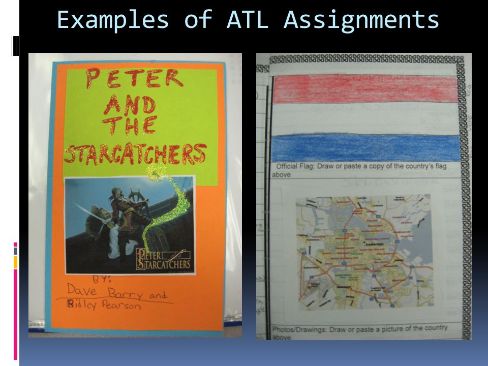 Examples of ATL Assignments
