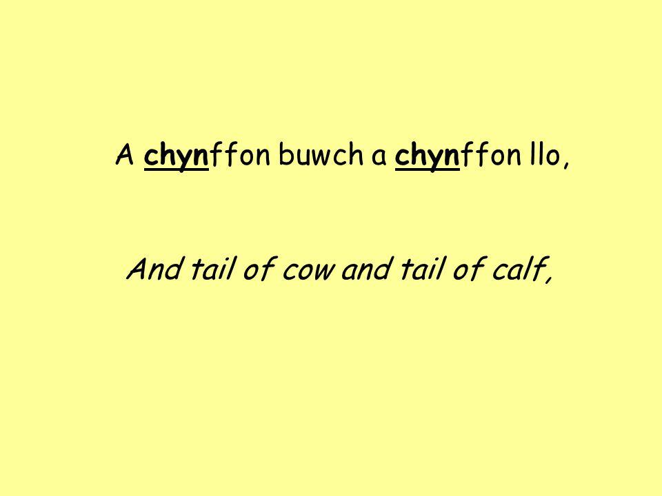 A chynffon Rhisiart Parri'r go: The blacksmith Richard Parry's, too;