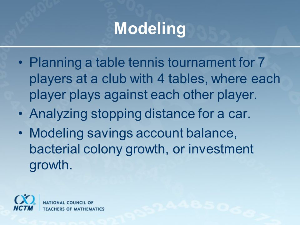 Modeling Planning a table tennis tournament for 7 players at a club with 4 tables, where each player plays against each other player. Analyzing stoppi