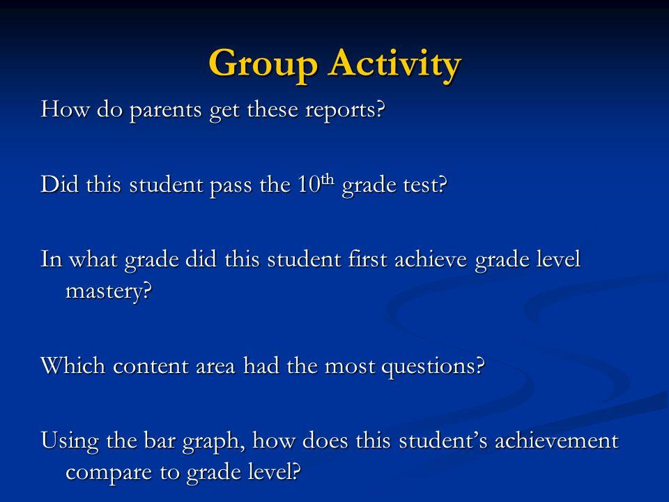 FCAT Parent Report