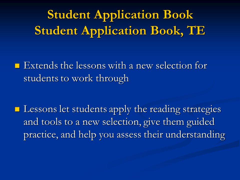 Teacher's Guide Walks through each lesson in the Reader's Handbook Walks through each lesson in the Reader's Handbook Highlights what to teach Highlig