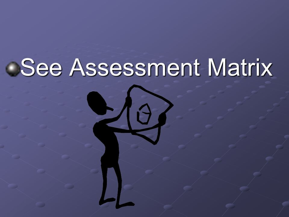See Assessment Matrix