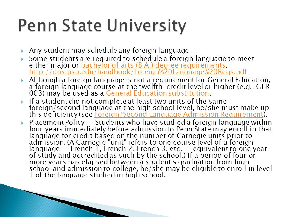  Any student may schedule any foreign language.