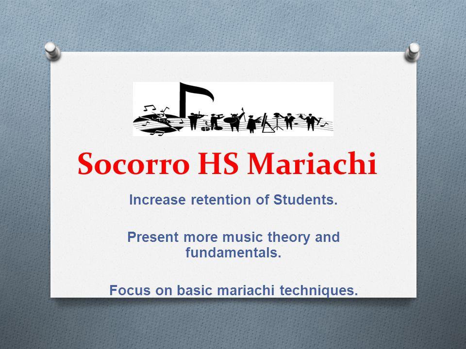 Socorro HS Guitar Increase participation in UIL Solo & Ensemble.
