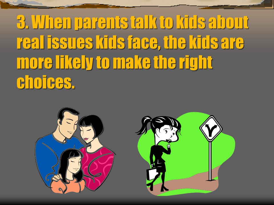 Parenting/School Concerns in 2011  Society has changed.