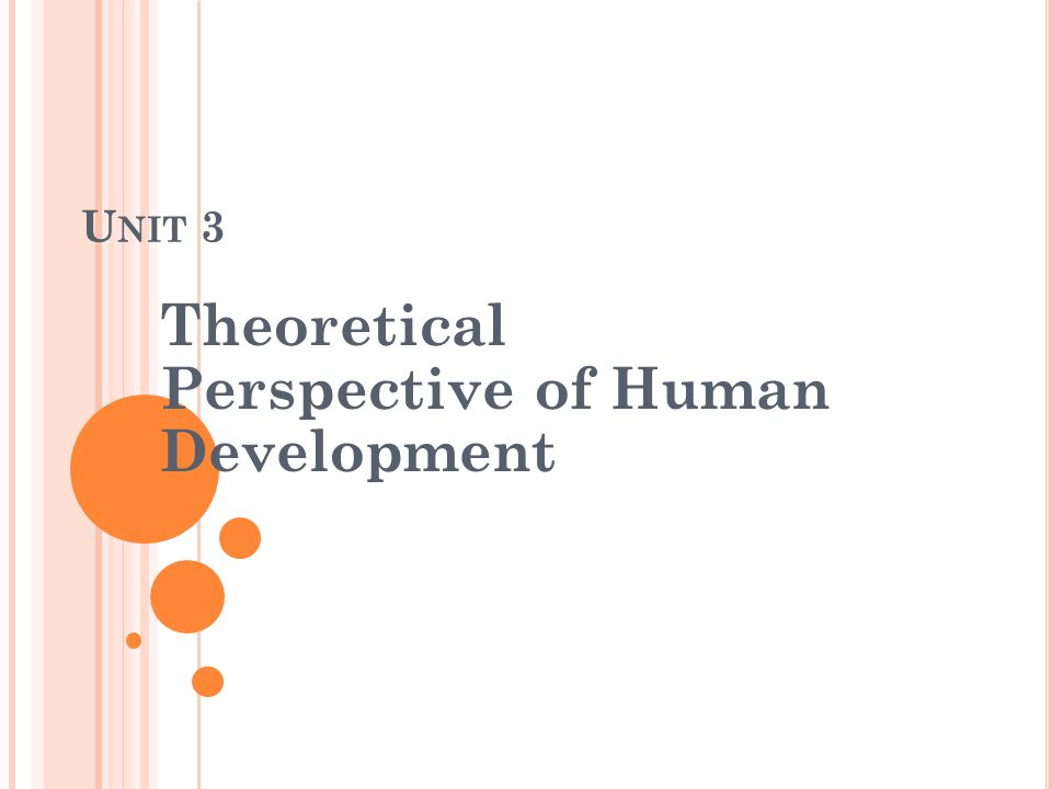 U NIT 3 Theoretical Perspective of Human Development