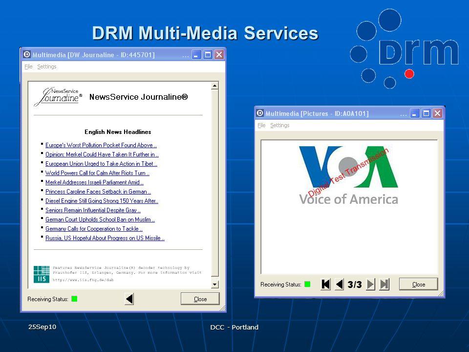 25Sep10 DCC - Portland DRM Multi-Media Services