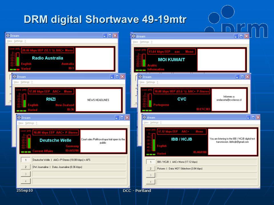 25Sep10 DCC - Portland DRM digital Shortwave 49-19mtr