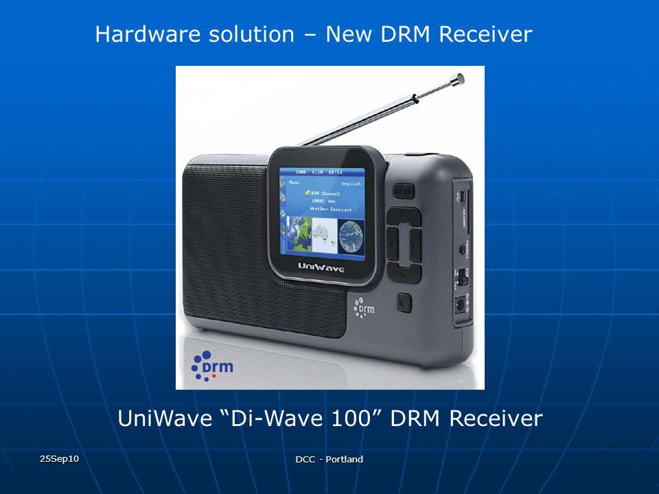 "25Sep10 DCC - Portland UniWave ""Di-Wave 100"" DRM Receiver Hardware solution – New DRM Receiver"