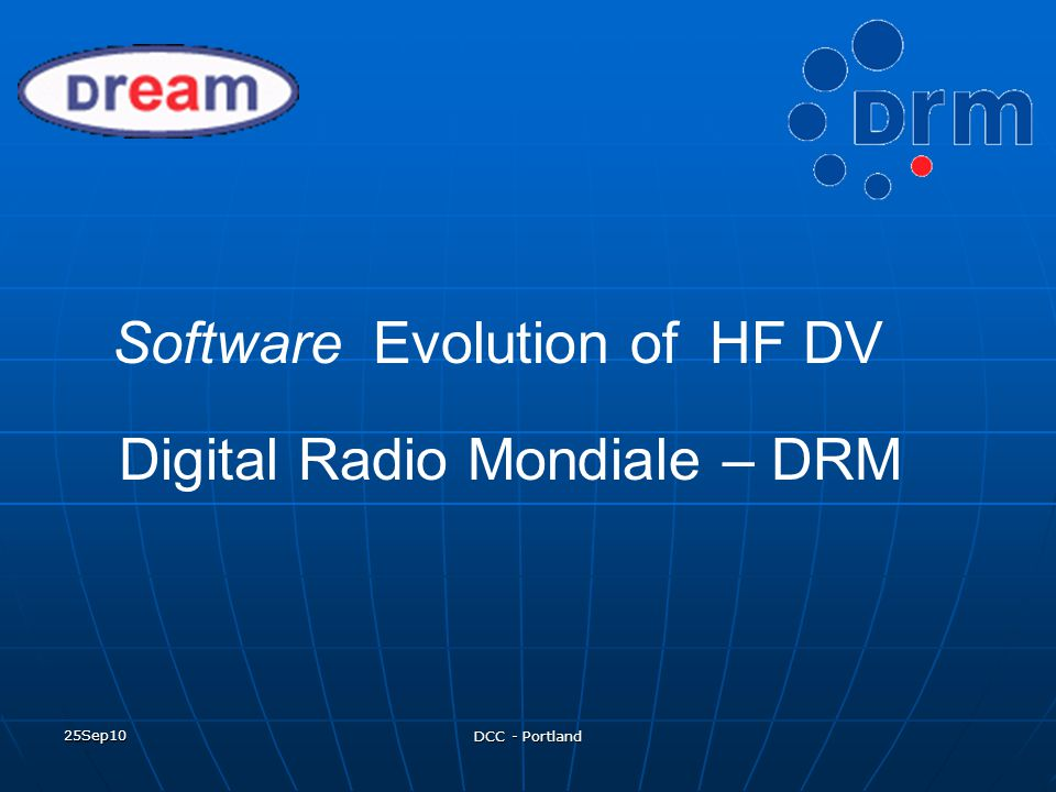 25Sep10 DCC - Portland DRM TX Software DRM TX Software