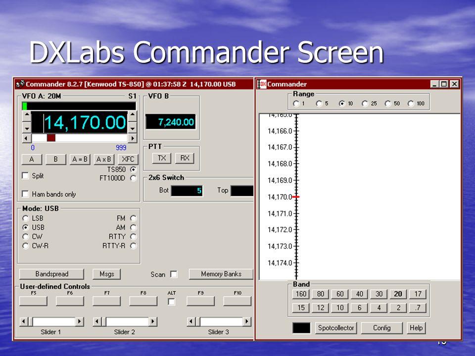19 DXLabs Commander Screen