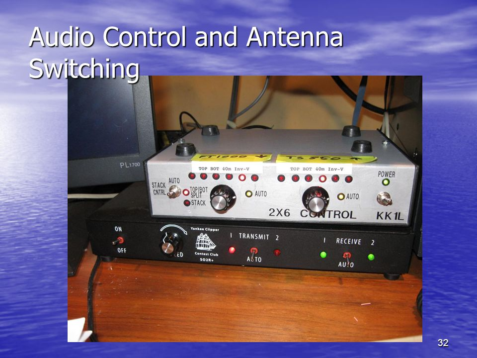 32 Audio Control and Antenna Switching