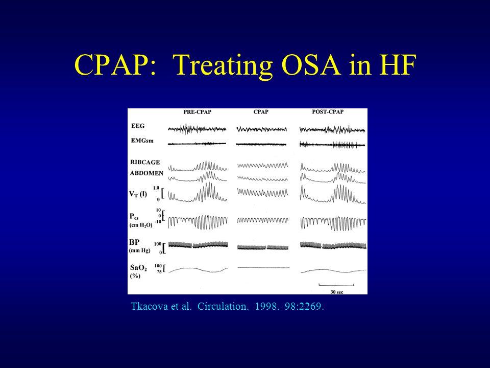 CPAP: Treating OSA in HF Tkacova et al. Circulation. 1998. 98:2269.