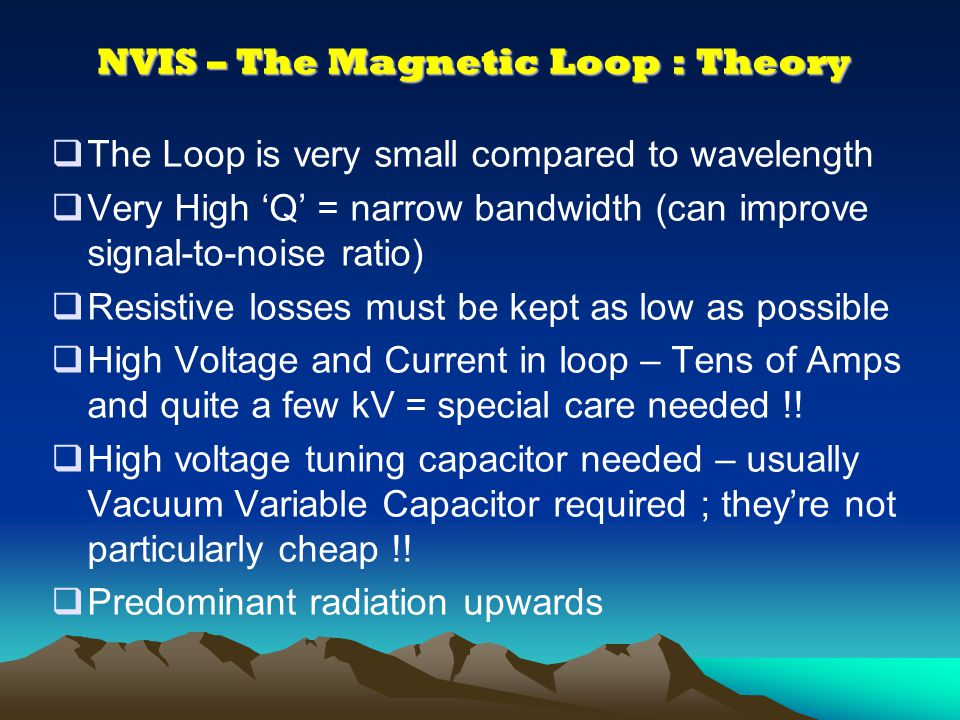 NVIS – The Magnetic Loop : Theory Diagrams courtesy of Stealth Telecom, Dubai