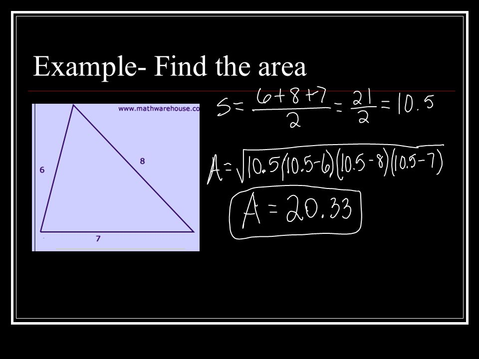 Example- Find the area