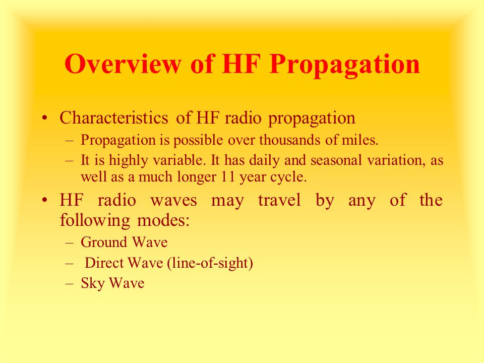 The Critical Frequency (f c ) When radio waves are transmitted straight up towards the ionosphere (vertical incidence), the radio wave will be returned to earth at all frequencies below the critical frequency, (f c ).
