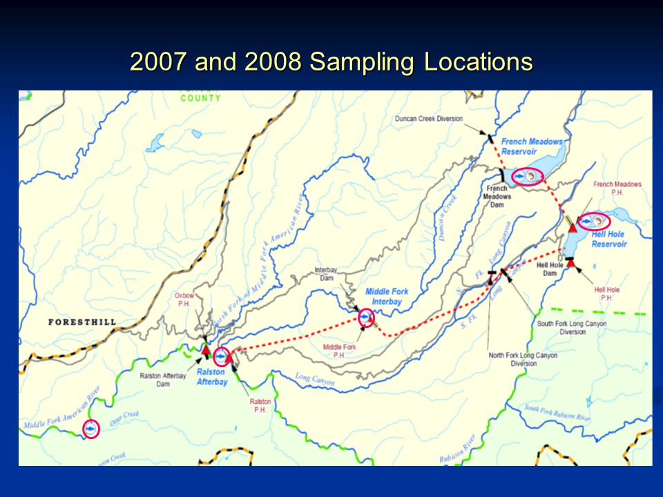 2007 and 2008 Sampling Locations