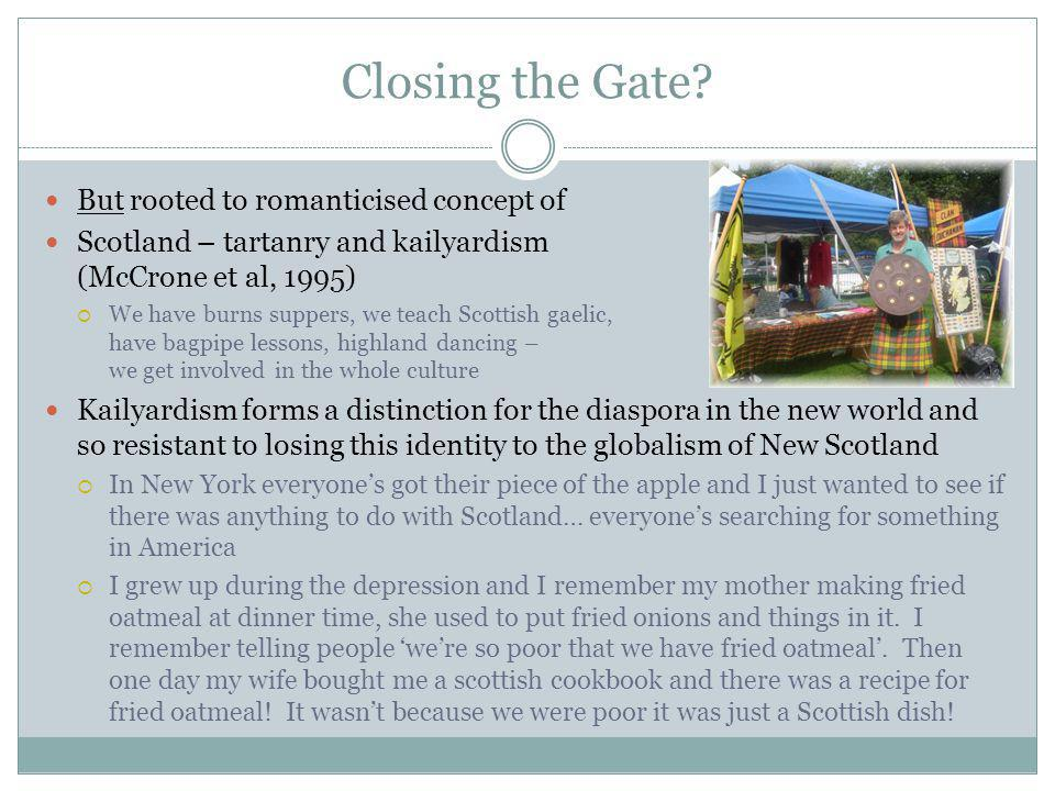 Closing the Gate.