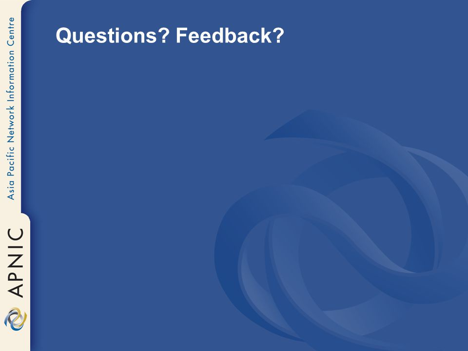 Questions Feedback