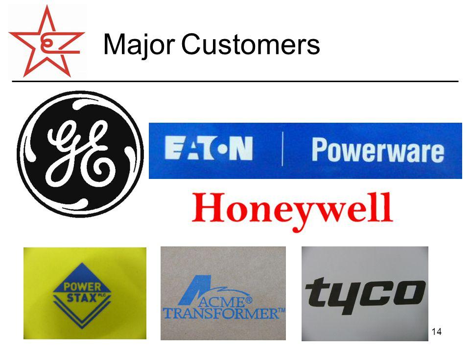 14 Major Customers