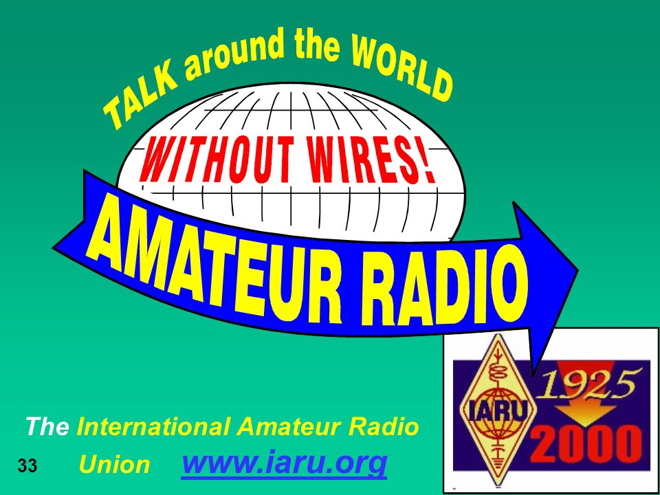 The International Amateur Radio Union www.iaru.org 33