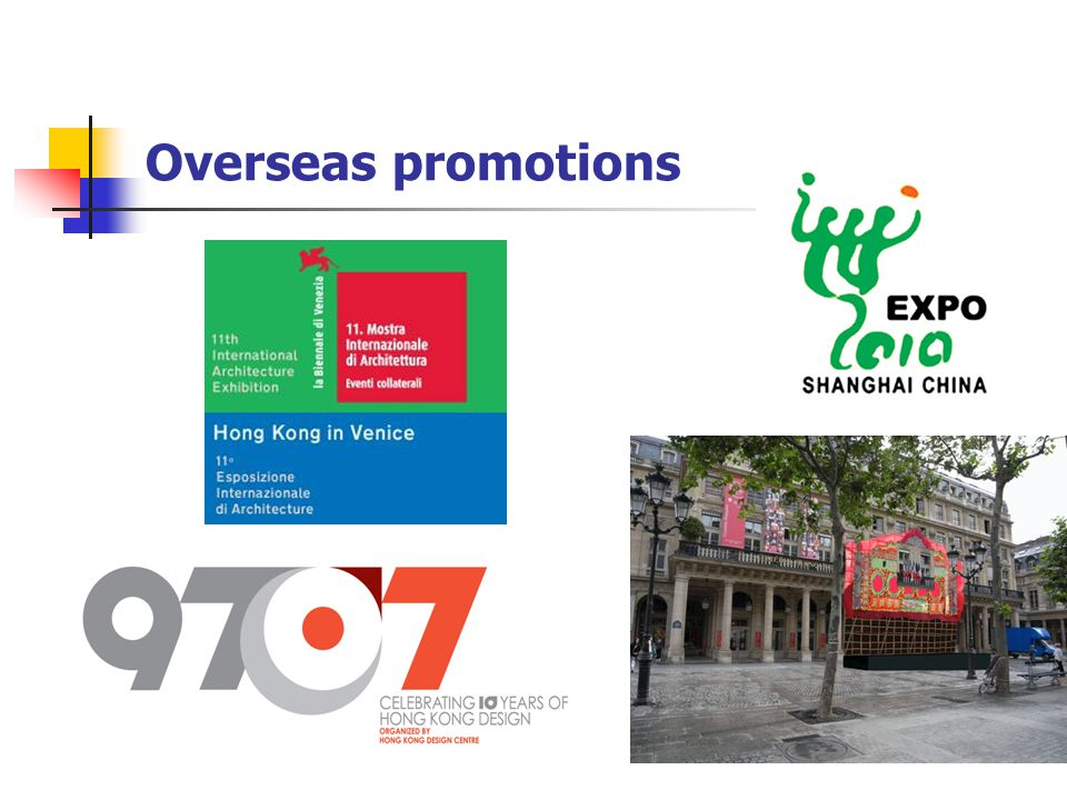 Overseas promotions