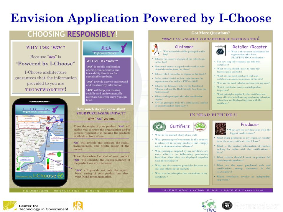 Envision Application Powered by I-Choose 14