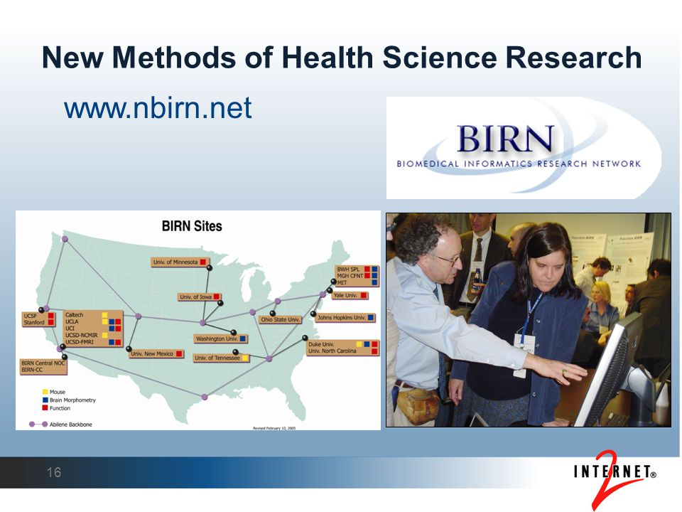 New Methods of Health Science Research 16 www.nbirn.net