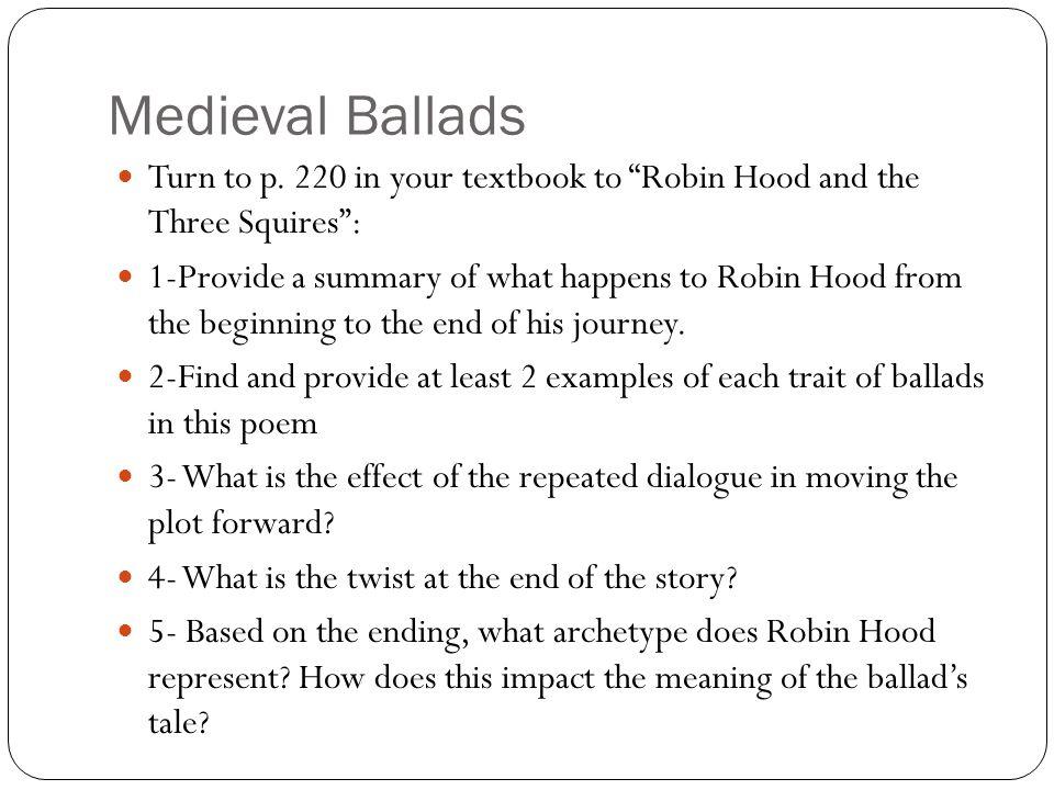 Medieval Ballads Turn to p.