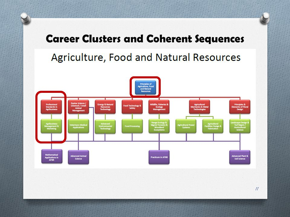 Career Clusters and Coherent Sequences 11