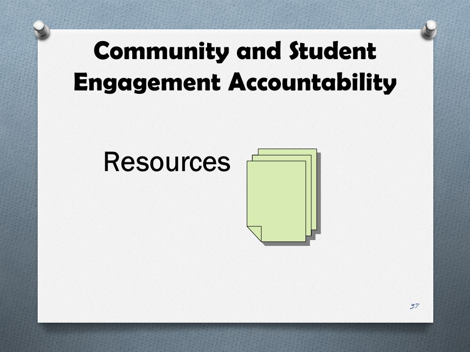 Community and Student Engagement Accountability Resources 37