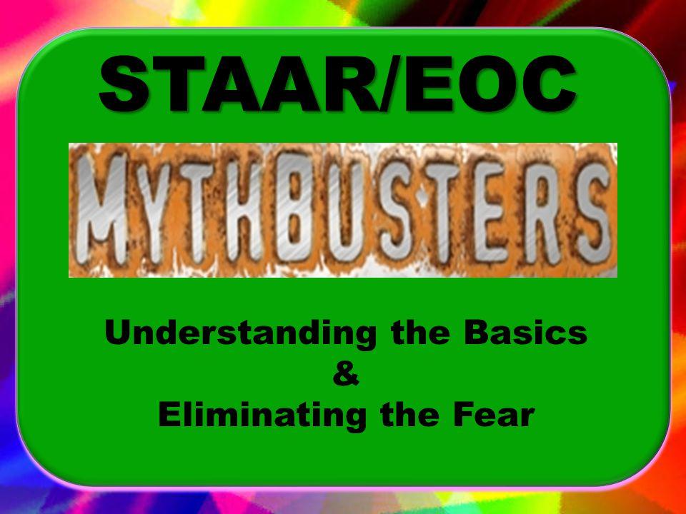 Understanding the Basics & Eliminating the Fear STAAR/EOC