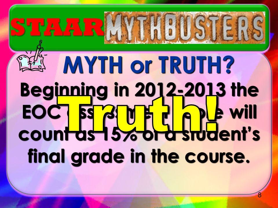 MYTH or TRUTH.MYTH or TRUTH.
