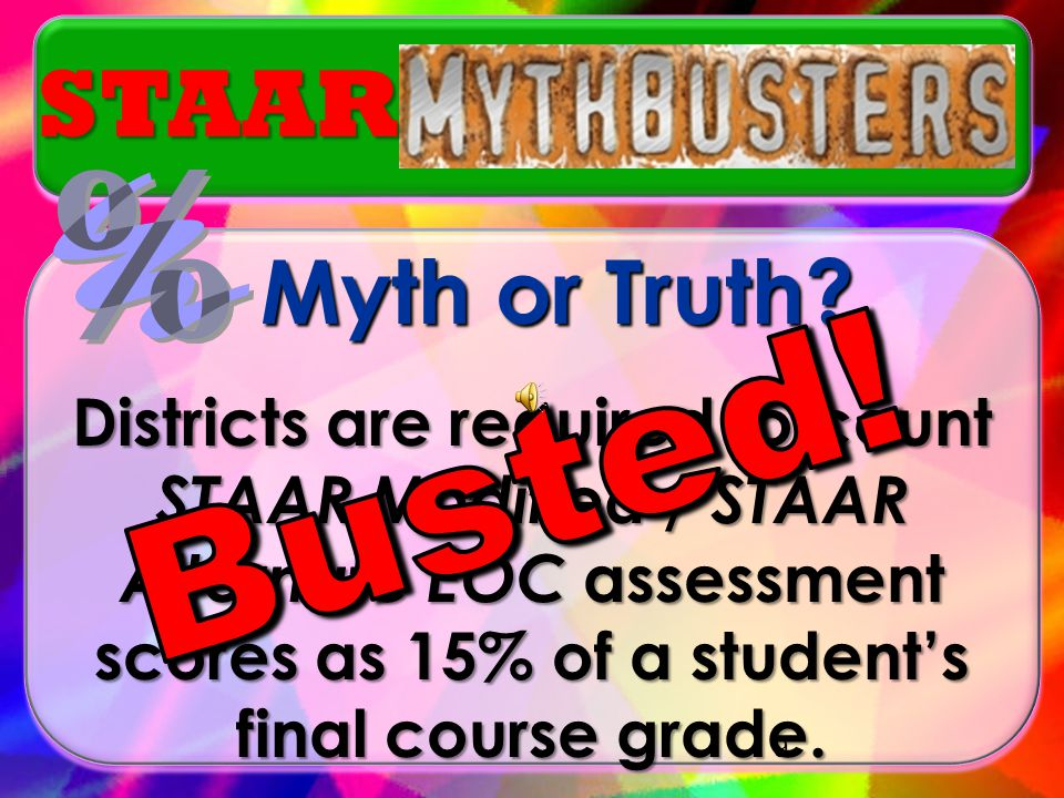 Graduation Requirements (Cumulative Score) Students scoring at the Minimum Performance Level will be highly encouraged to retake assessments until a Satisfactory or Advanced performance score is obtained Cumulative score requirements do not apply to students taking STAAR Modified or STAAR Alternate 39