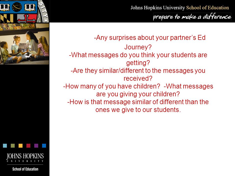 Johns Hopkins University School of Education What is a College Going Culture.