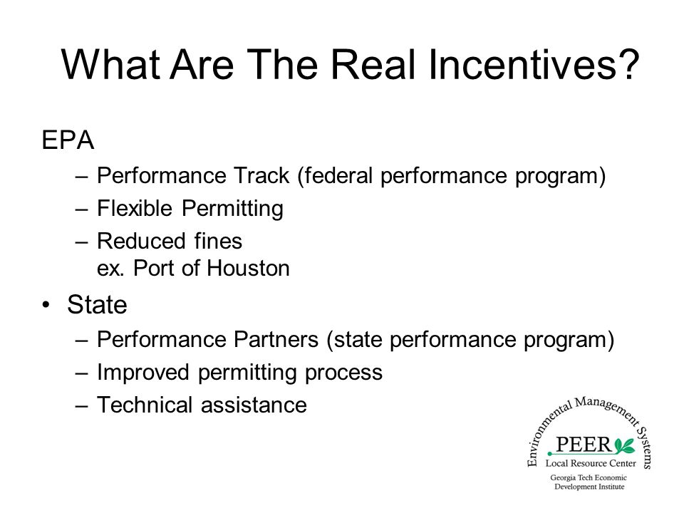 What Are The Real Incentives.