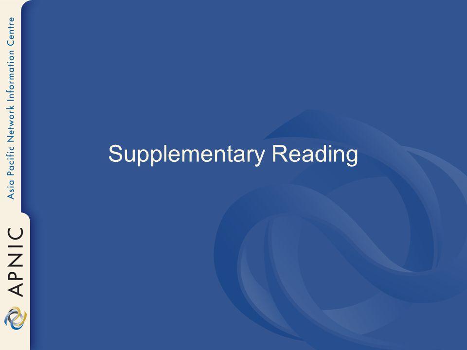 Supplementary Reading