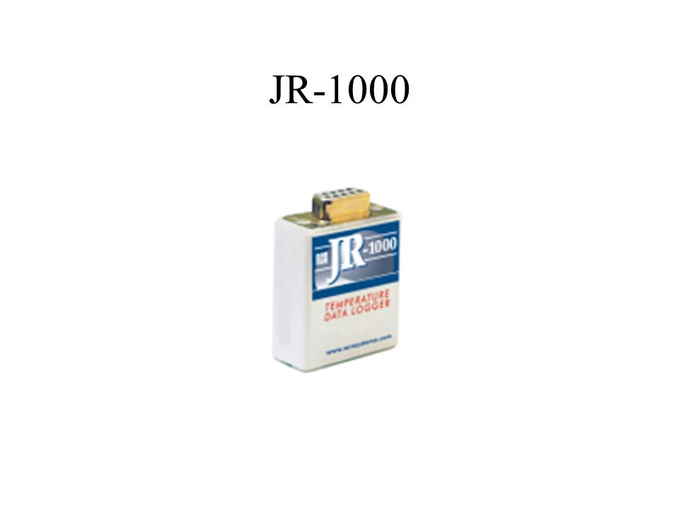 Description JR-1000 is a simple easy-to-use single-channel data logger.