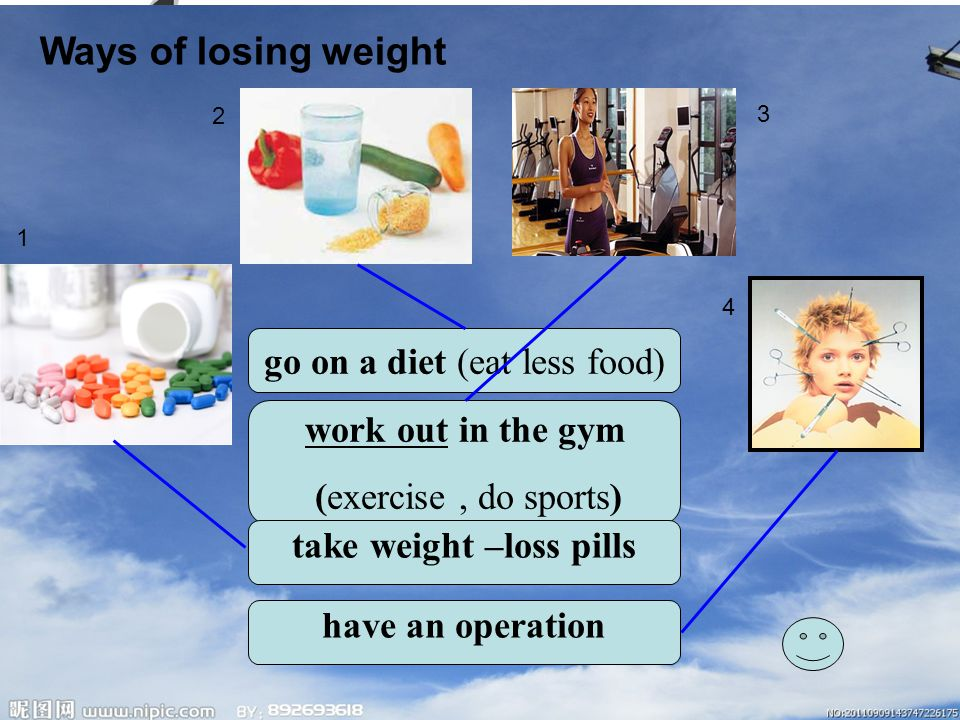 If you are the person who is a little overweight, how would you lose weight