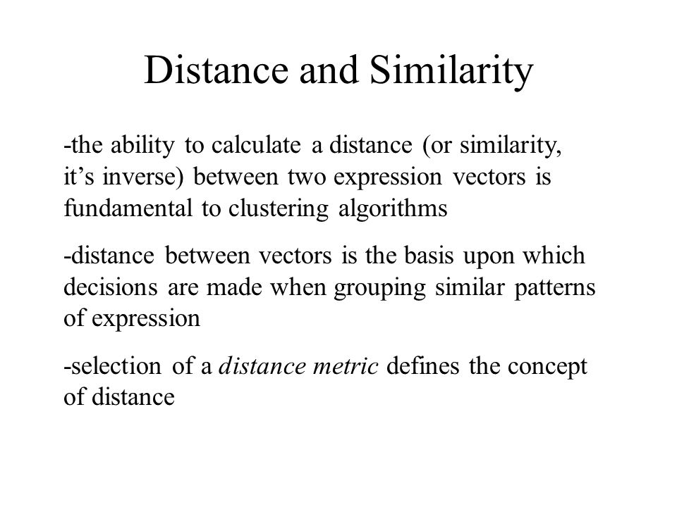 Cluster-to-cluster distance is defined as the average distance between all members of one cluster and all members of another cluster.