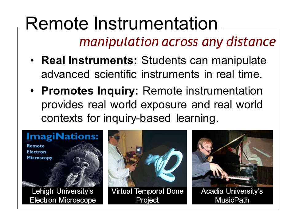Real Instruments: Students can manipulate advanced scientific instruments in real time.