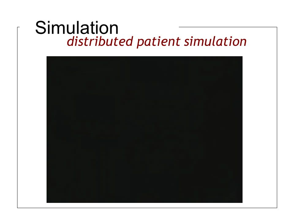 Simulation distributed patient simulation