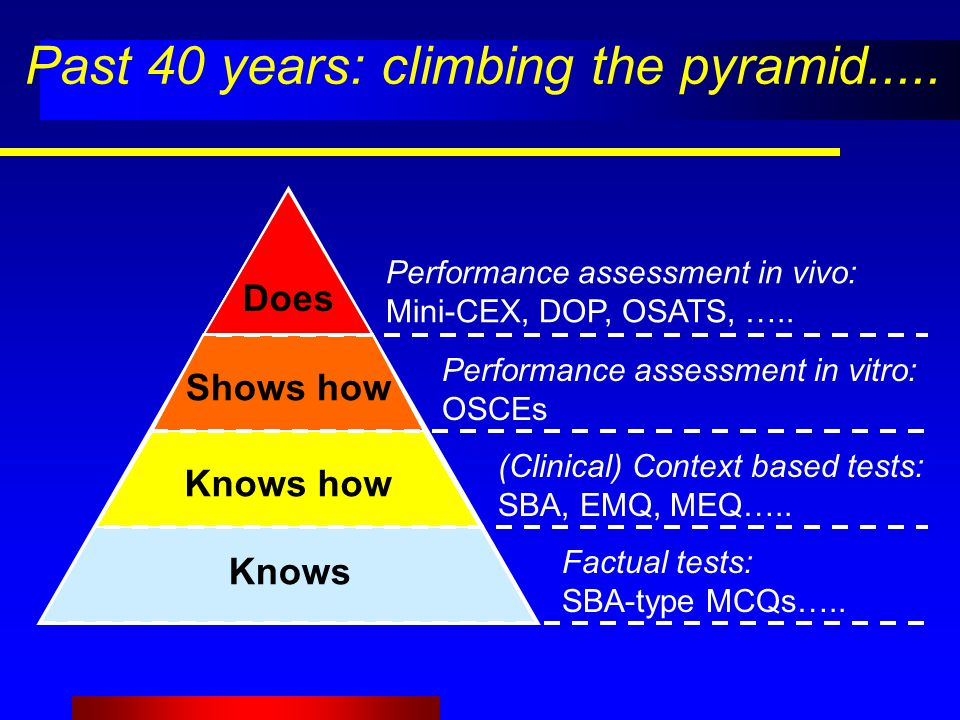 Past 40 years: climbing the pyramid.....