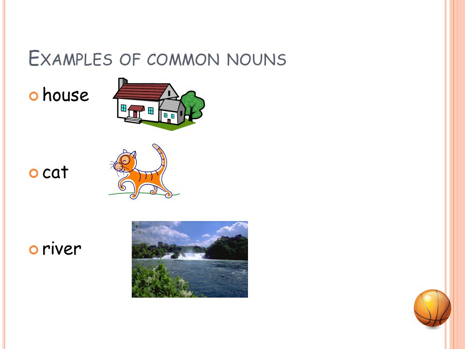 C OMMON N OUNS A word that names ANY person, place, or thing.