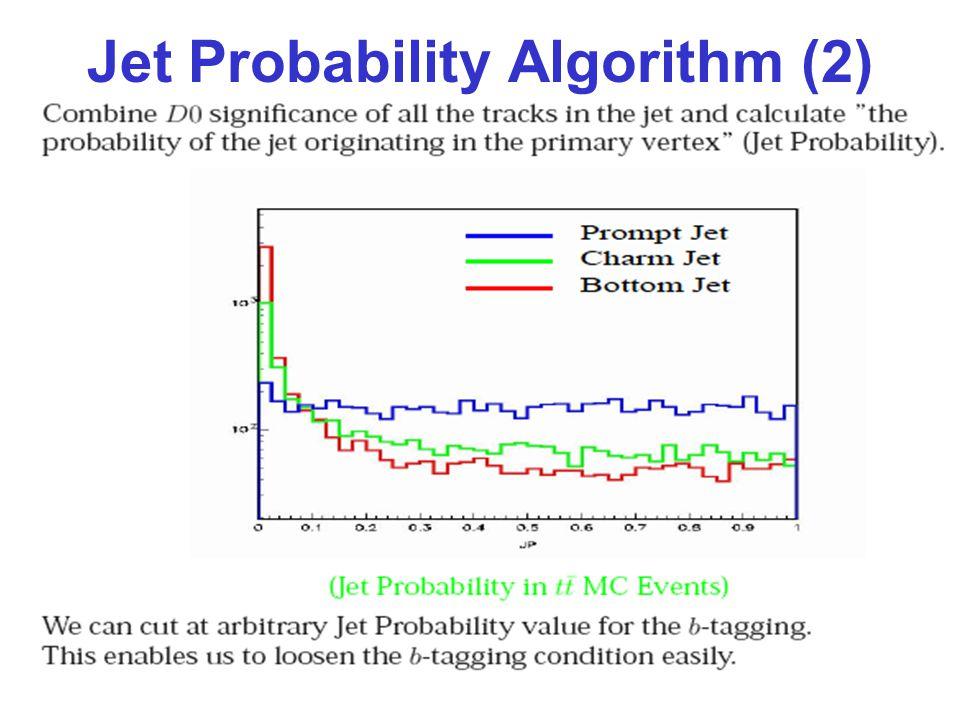 Jet Probability Algorithm (2)