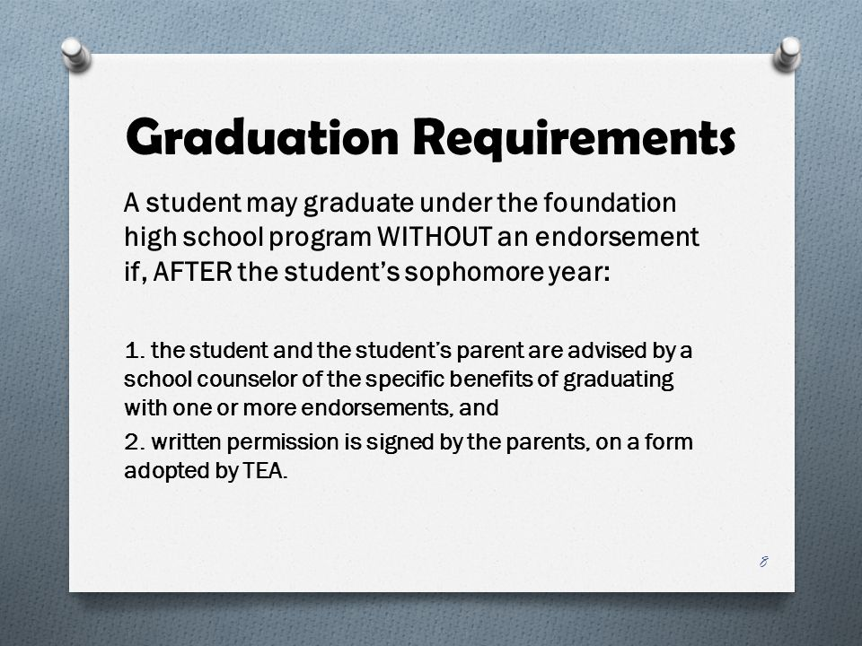 Endorsement Requirements O There are multiple pathways to fulfill endorsement requirements O School district defines advanced courses and determines a coherent sequence, provided that prerequisites are followed O A course used to satisfy an endorsement requirement may also be used to satisfy a foundation/elective requirement 19