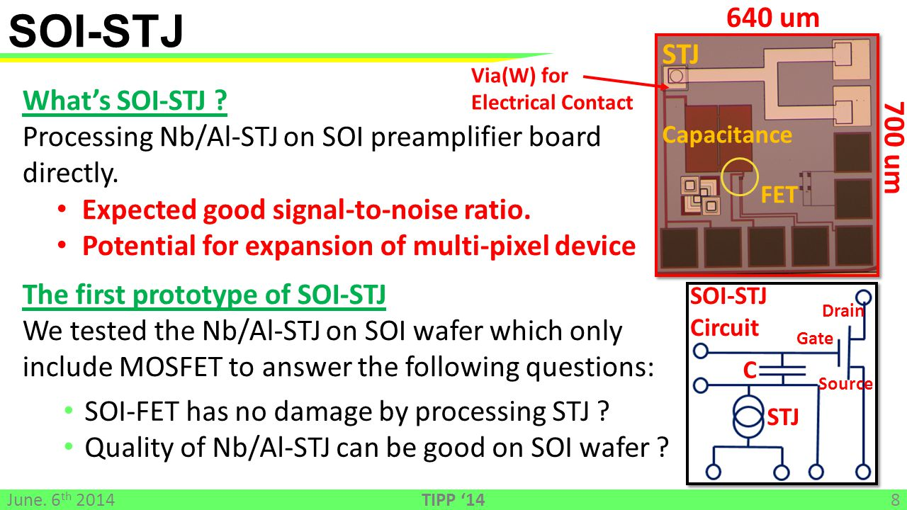 Via(W) for Electrical Contact What's SOI-STJ .