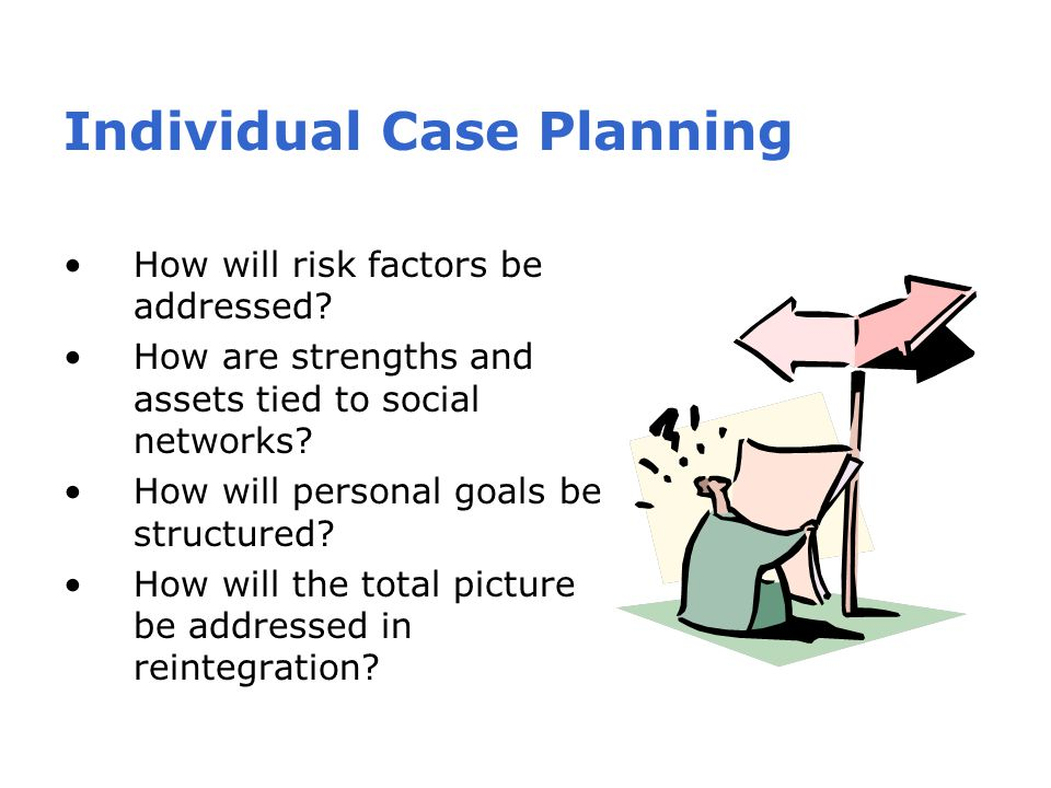Individual Case Planning How will risk factors be addressed.